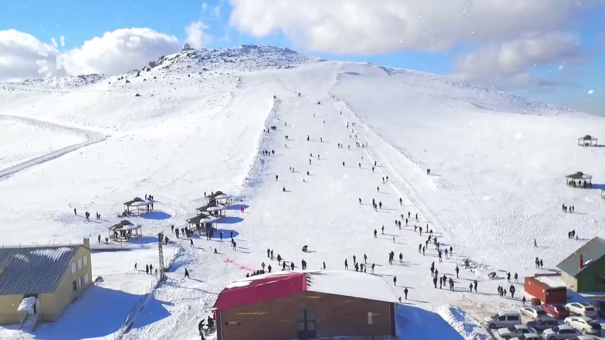 Thousands of tourists hit Mount Karacas slopes every year for skiing and snowboarding at the Karacadag ski resort, located on the border of #Turkey's southeastern #Diyarbakir and #Sanliurfa provinces.