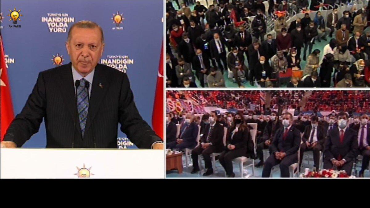 Genel Başkanımız ve Cumhurbaşkanımız @RTErdogan: Türkiye'nin 2023 hedeflerine ulaşması 2053 ve 2071 vizyonlarını hayata geçirebilmesi AK Parti ve Cumhur İttifakı olarak bizlerin omuz omuza vereceği mücadelenin başarısına bağlıdır. #İnandığınYoldaYürü