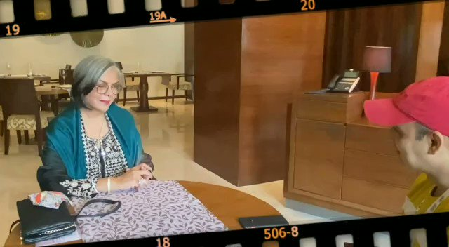 """""""If you're an adolescent and at that age, you're exposed to different cultures of the world, it makes a huge difference, you're not like a tortoise in a way..."""": #ZeenatAman   #IFFI51 @iffigoa #TalkingFilms #BollywoodHungama YT:"""