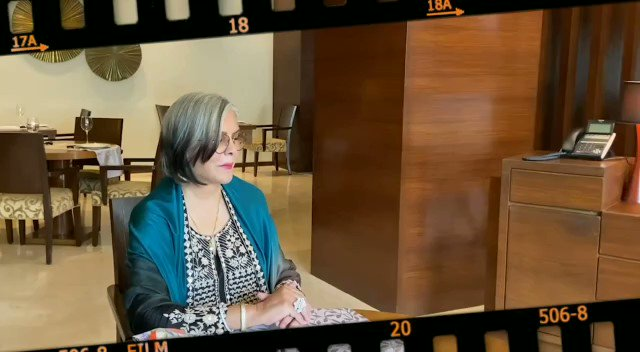 """""""People come to me and they tell me that they've enjoyed my work and I'm very grateful for it but..."""": #ZeenatAman   #IFFI51 @iffigoa #TalkingFilms #BollywoodHungama YT:"""