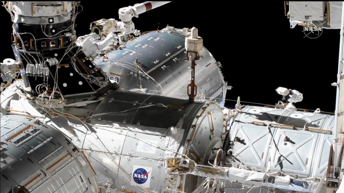 The spacewalkers just installed a new antenna on @ESA's Columbus lab module that will send and receive high-bandwidth science data and commands to and from Earth. #AskNASA  