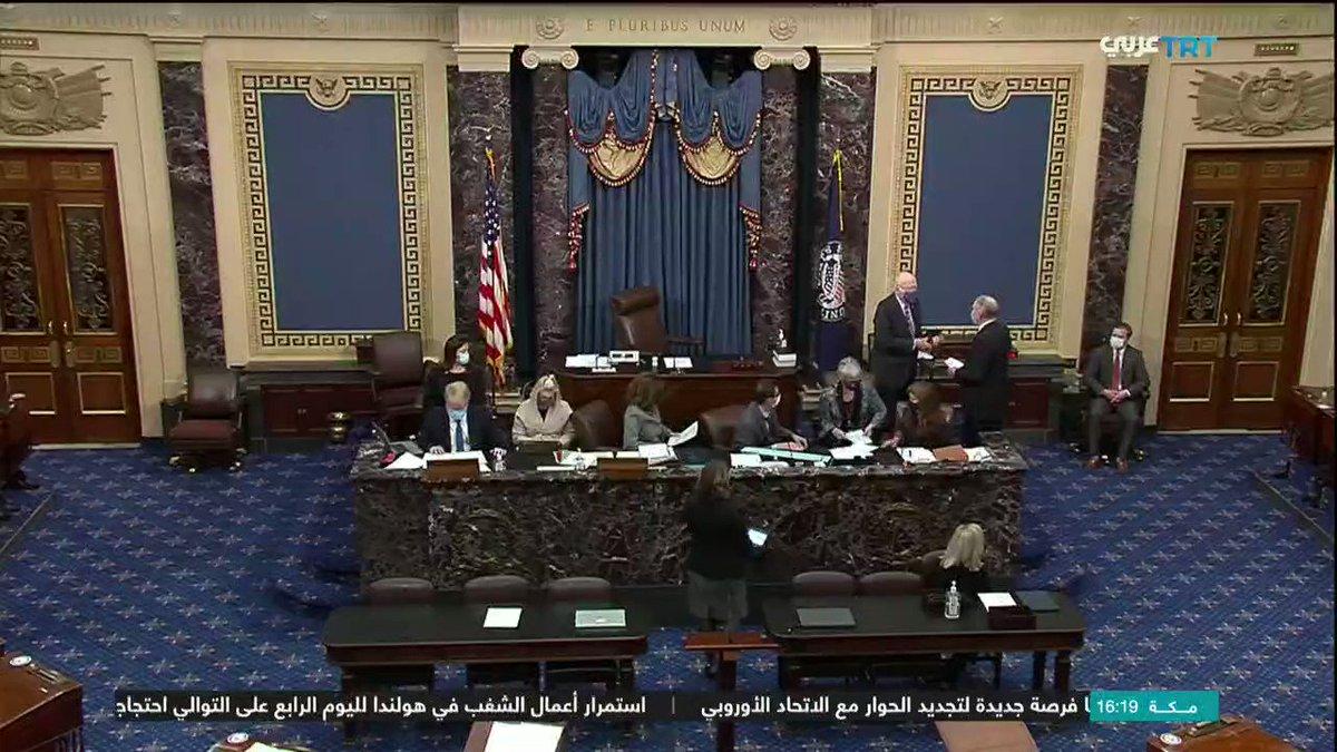مجلس الشيوخ يرفض مبادرة بعض الجمهوريين لوقف محاكمة #ترمب