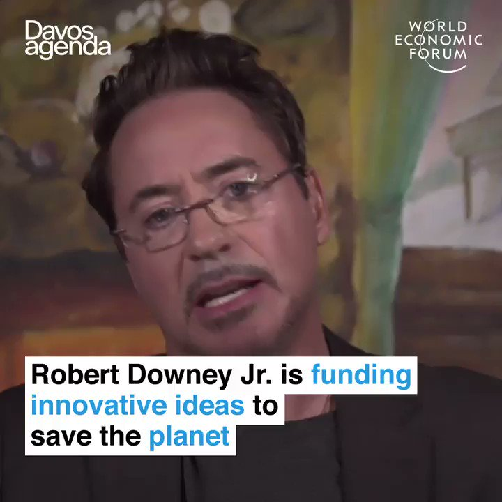 Replying to @wef: A heroic investment 🦸‍♂️ @RobertDowneyJr   Learn more:  #DavosAgenda