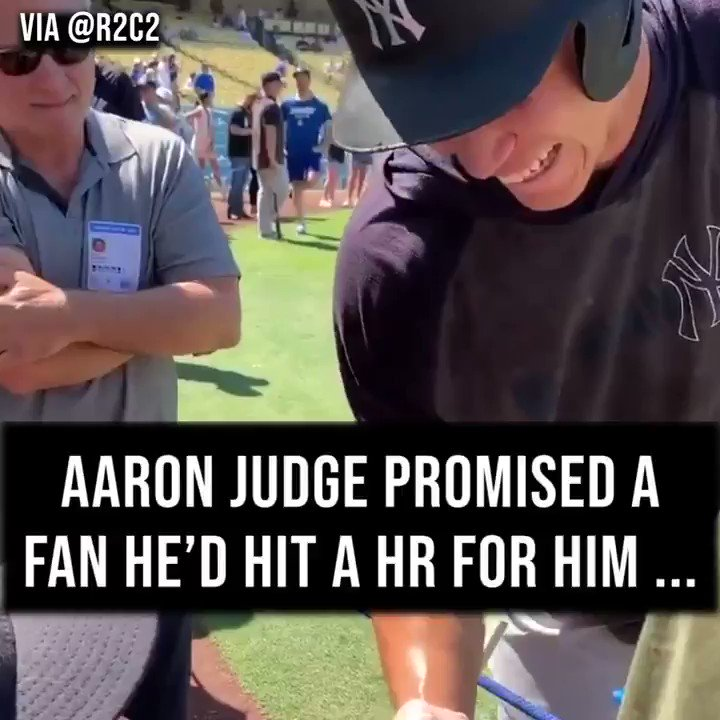 .@TheJudge44 is a man of his word. 💪