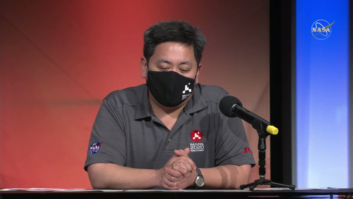 """""""We can send telemetry back from Perseverance, through MRO [Mars Reconnaissance Orbiter], to Earth, in real time."""" - @NASAJPL's Allen Chen explains how we'll receive communications during @NASAPersevere's entry, descent, and landing on Mars."""