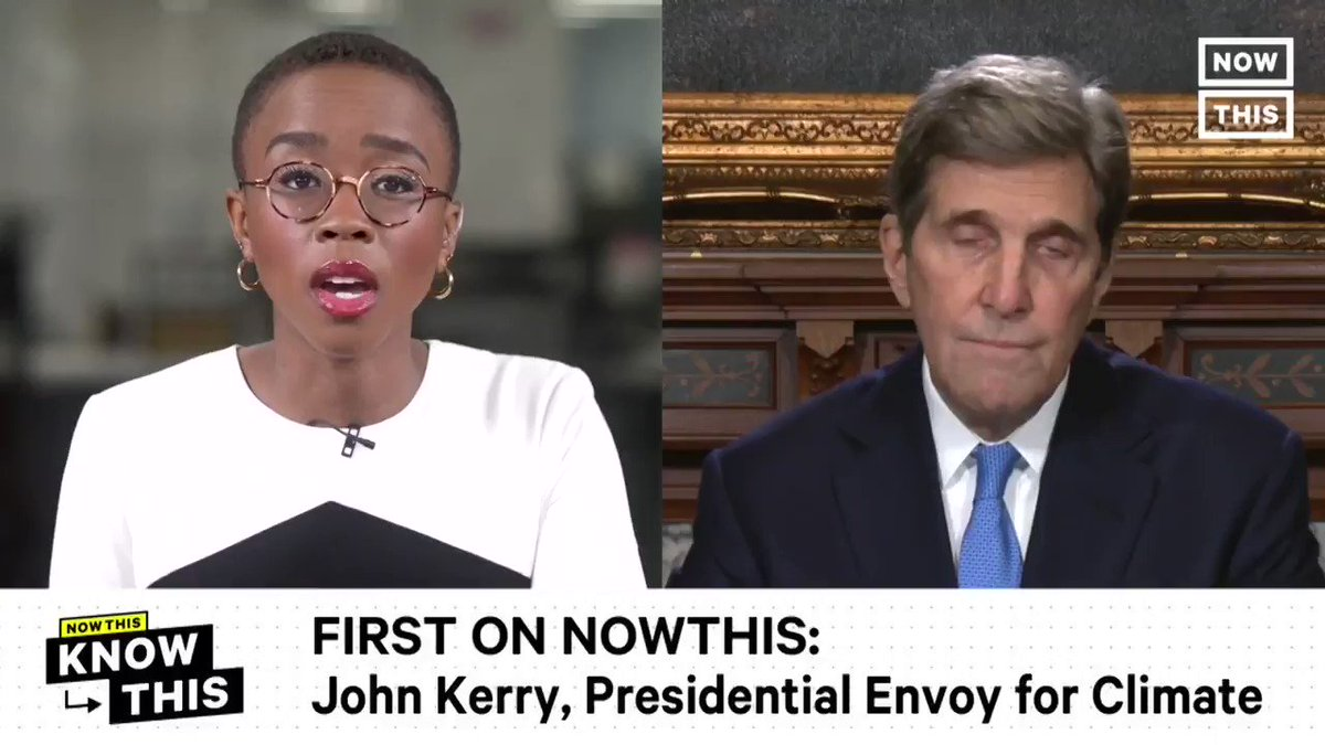 .@JohnKerry says there are a number of countries—Germany, New Zealand, Denmark, and others—that the U.S. can look to emulate as examples of 'stalwart' climate action, in an exclusive @whitehouse interview with NowThis