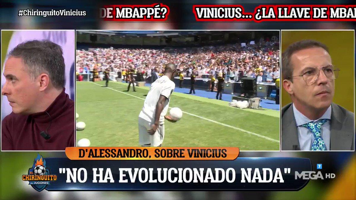 """🗣⚡""""A alguien le ha interesado NO TRABAJAR A VINICIUS en el Real MADRID"""". ¡OJO a lo que dice @alfredoduro1 en #ChiringuitoVinicius!"""