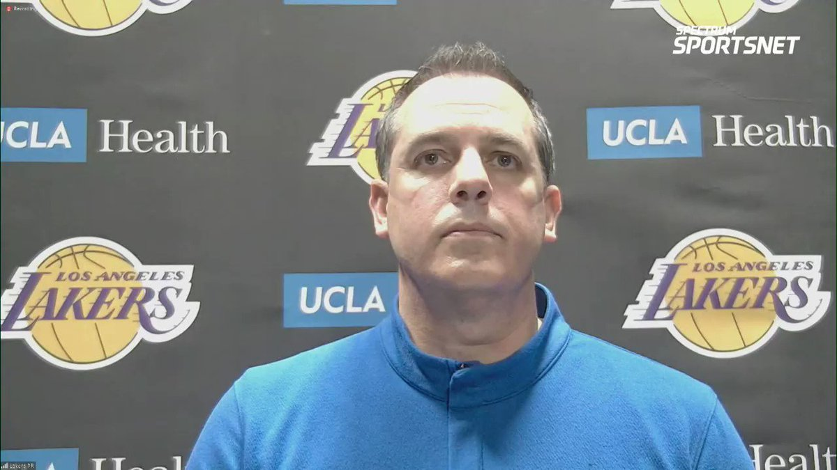 Frank Vogel on the #Lakers surge down the stretch, the missed free throws and more.