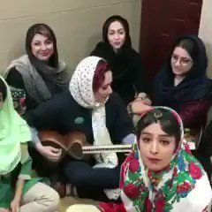 Under the Islamic regime in Iran, women are forbidden to sing or dance.   In this video, Iranian women are playing and singing - they refuse to be oppressed. I support their noble cause.