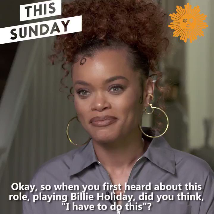 "#CBSSunday Preview  This week actress @AndraDayMusic talks with our @thattracysmith about her wariness in portraying the famed jazz singer in the new Hulu film, ""The United States vs. Billie Holiday"""