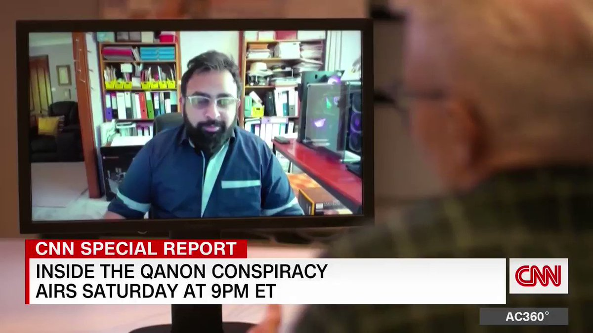 """Former QAnon believer to @andersoncooper: """"I apologize for thinking that you ate babies"""""""