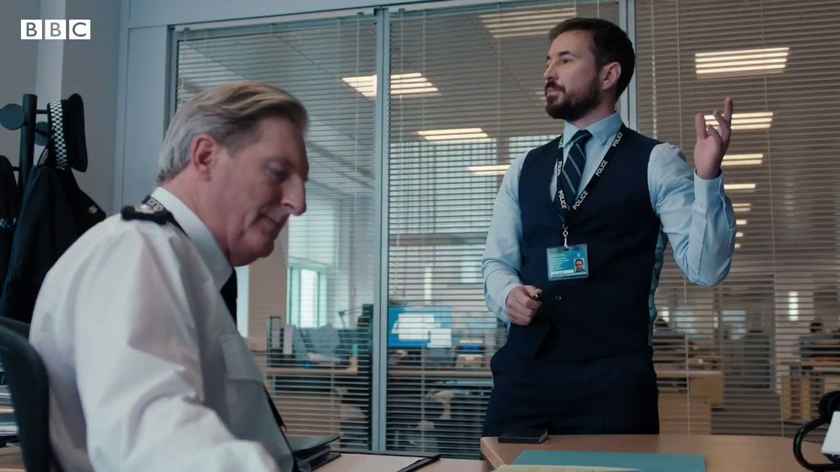 Listen up, fellas. When the gaffer asks for more, you better deliver.    #LineOfDuty returns for Series 6 with an extra episode (7 instead of 6). Coming soon to @BBCOne and @BBCiPlayer.