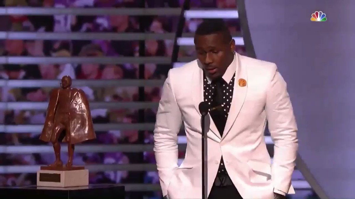 """Let's be a village of guys that makes a difference. Let's change this world."" 🙏  @ThomasDavisSDTM gave one of the most moving #WPMOY speeches in 2014. (by @Nationwide)  📺: #NFLHonors -- TONIGHT on CBS (9pm ET)"