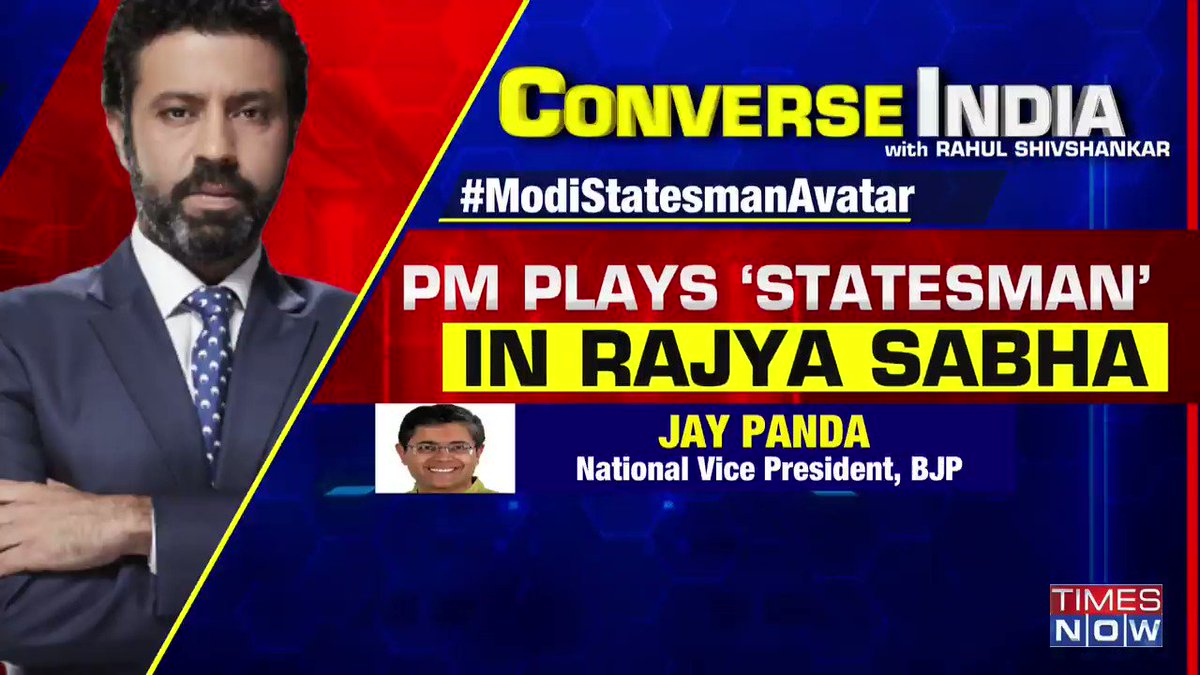 PM's 'teary tribute' to the retiring Leader of Opposition in Rajya Sabha Ghulam Nabi Azad has sparked a debate. Opposition calls it 'event management'.  @PavanK_Varma, @JhaSanjay, @Chetan_Bhagat share their views on CONVERSE INDIA at 8 PM. | #ModiStatesmanAvatar