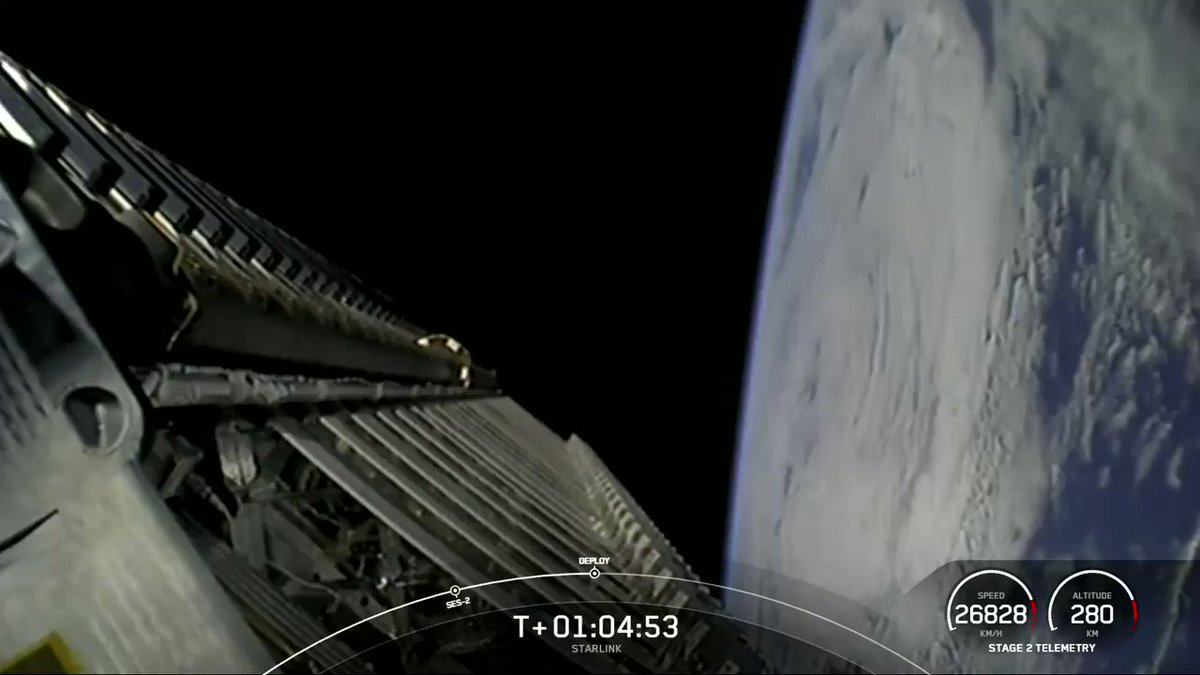 Deployment of 60 Starlink satellites confirmed