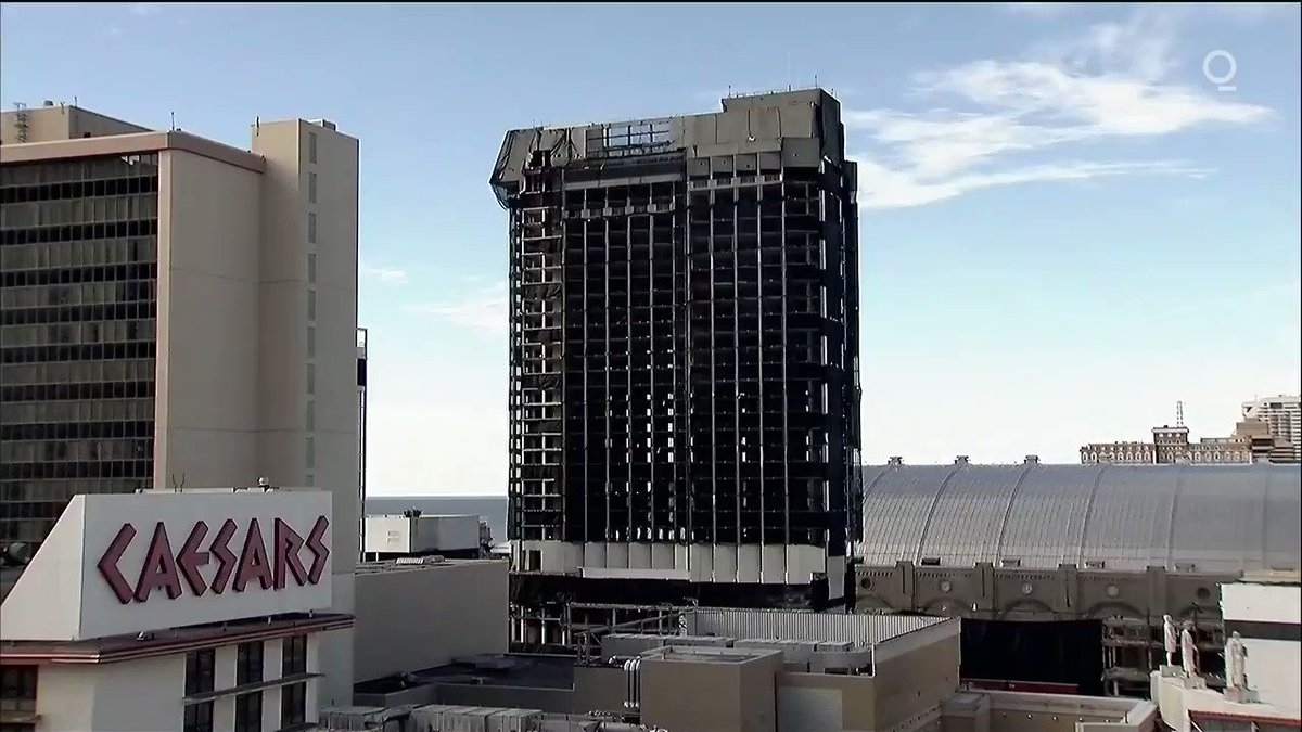 LOOK: The Trump Plaza Hotel and Casino in Atlantic City is demolished. The hotel has been closed since 2014
