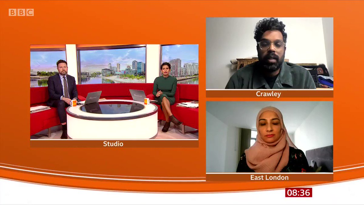 """We just assumed she would be ready and willing""  Comedian Romesh Ranganathan tells #BBCBreakfast he had to reassure his mother over the Covid vaccine after some initial hesitancy."