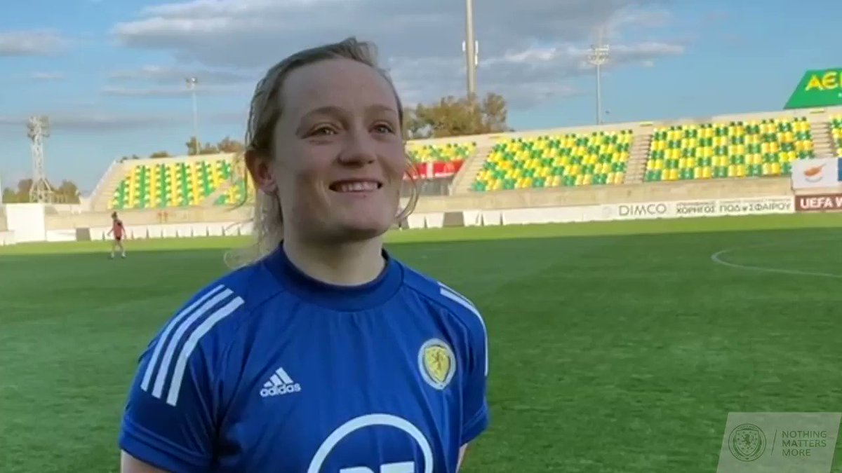 """It's a fresh year, it's a time to get going, all the squad are really excited and I think it's a fresh start for us. We're raring and ready to go for tomorrow."" Hear from @erincuthbert_ ahead of #SWNTs clash with Cyprus tomorrow. ➡️ Match preview: scotfa.co/cypswntprv"