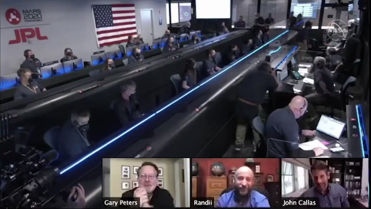 Touchdown! Nearly 7 months after takeoff, @NASAPersevere has become the fifth rover to successfully land on the surface of Mars. I was proud to join experts from @NASA today to celebrate this momentous occasion. Congrats to all those who made this a reality! #CountdownToMars