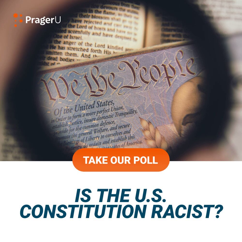 Image for the Tweet beginning: Is the U.S. Constitution racist?
