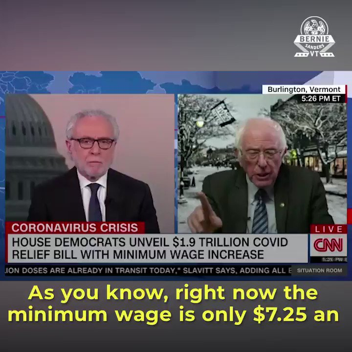 Half of our workers are living paycheck to paycheck and millions of people are working for starvation wages. We need the minimum wage to be a living wage and that's why we're going to raise it to $15 an hour.