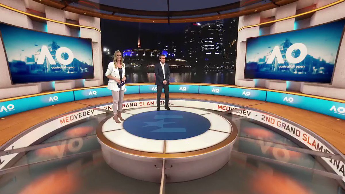 Ahead of what promises to be a memorable @AustralianOpen mens final, @DaniilMedwed visited the Eurosport Cube studio from Melbourne to preview his match against Novak Djokovic with @Babsschett and Mats Wilander. All courts, all matches LIVE on Eurosport and the Eurosport App.