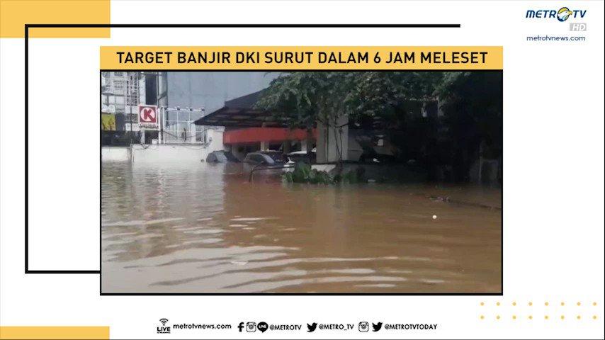 Target banjir surut dalam enam jam di DKI Jakarta ternyata meleset. Apakah upaya pemerintah provinsi DKI belum maksimal atau faktor volume air yang luar biasa besar? #MetroSiang #KnowledgetoElevate