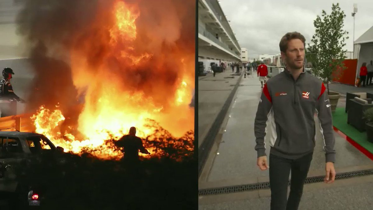 """""""I don't feel like a superhero, I feel like a dad that has done what he had to do to go and see his kids.""""   @RGrosjean tells @AmandaDCNN about his horrific crash last year at the Bahrain Grand Prix.  👉https://t.co/EnPubQSIS6"""