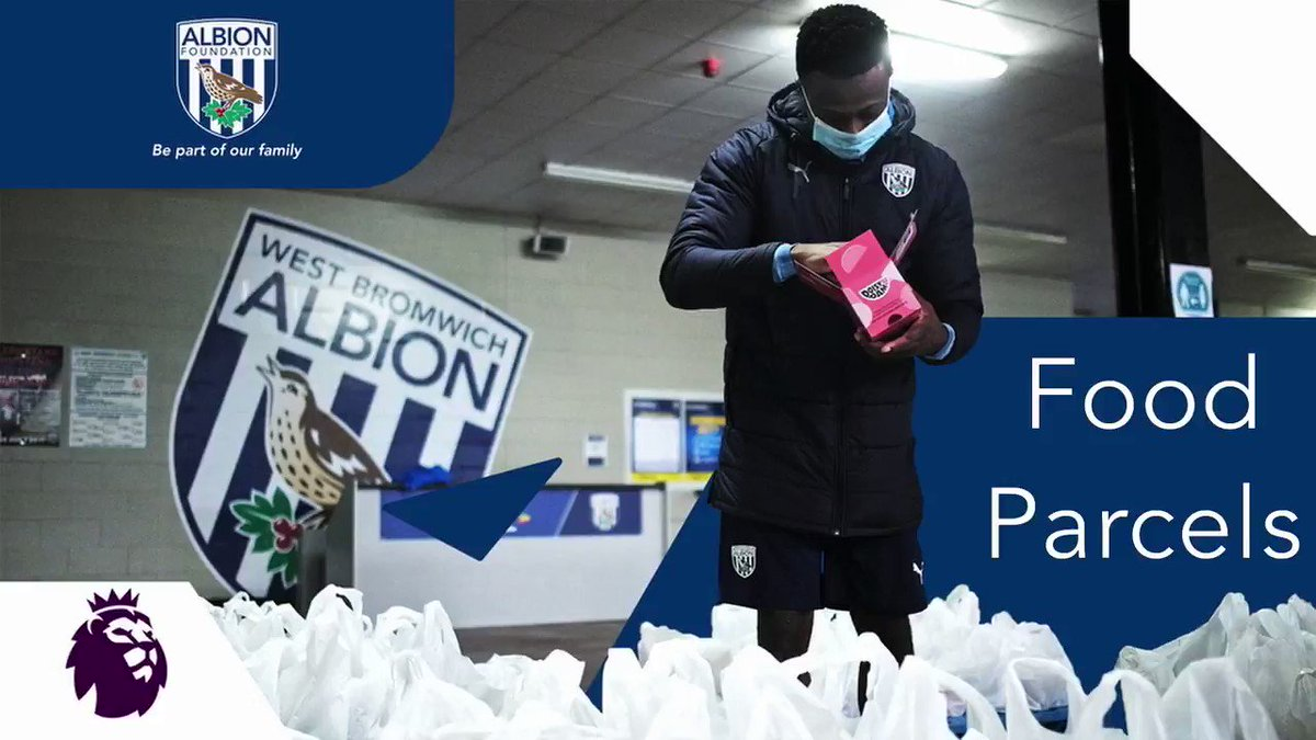 Simply 𝗜𝗡𝗖𝗥𝗘𝗗𝗜𝗕𝗟𝗘 💙🙌  𝟏𝟎𝟎,𝟎𝟎𝟎 food parcels have now been delivered to the local community by the truly inspirational @WBAFoundation since the start of the COVID-19 pandemic 🔵⚪️