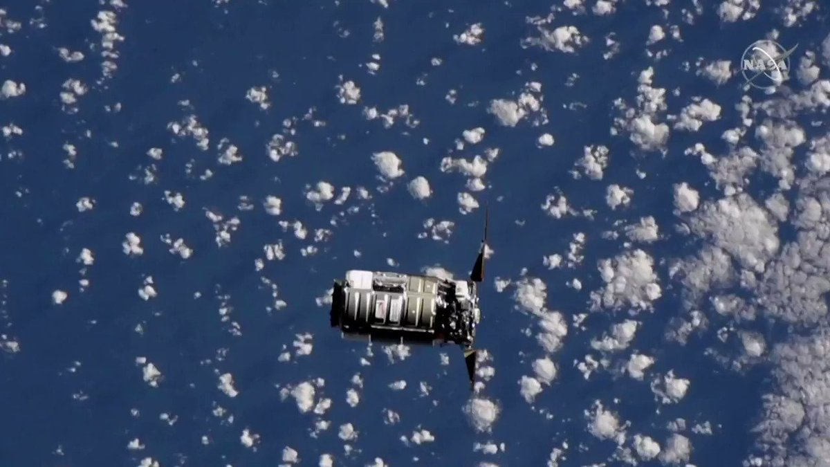 ICYMI: A Cygnus cargo spacecraft arrives at the International Space Station https://t.co/9xKnvcSTE7
