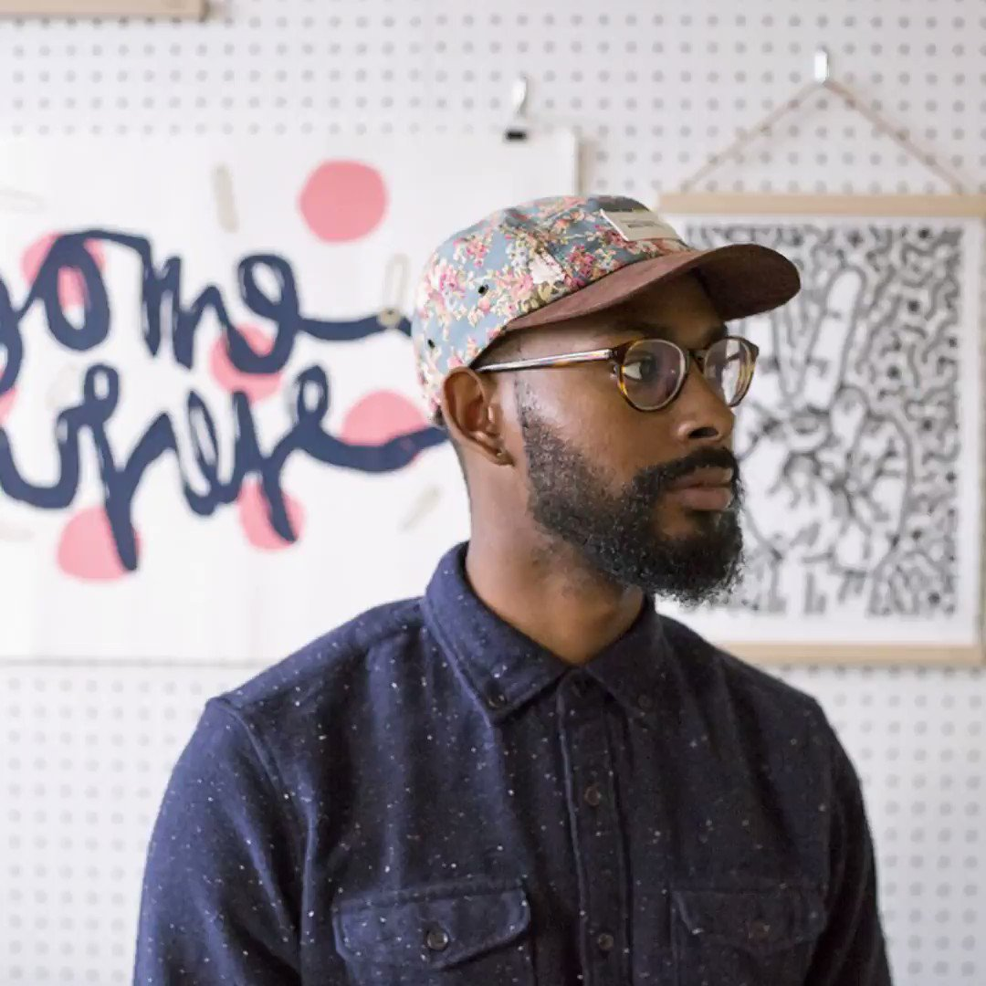 """""""Black creatives should be and CAN BE everywhere, in every form of creativity."""" This week, designer Marco Cheatham's artwork takes over the YouTube homepage to celebrate Black creators who inspire us with their artistic endeavors. 👨🏾🎨 #CreateBlackHistory→"""