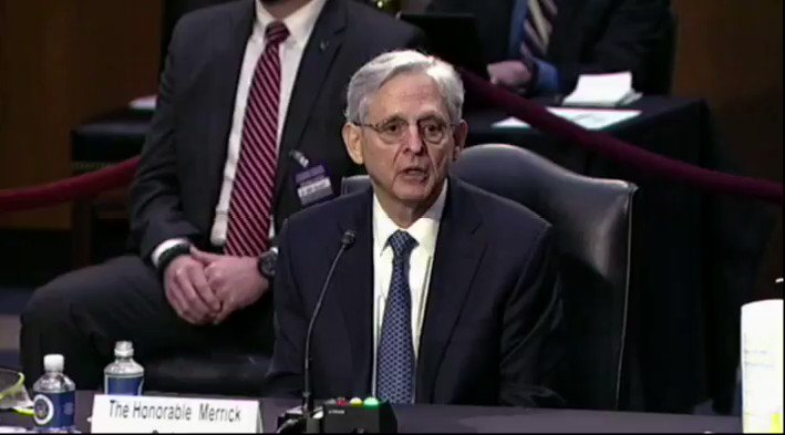 "CONFIRMATION HEARING:  Sen. @tedcruz: ""Will you commit to this committee that under your leadership, the Dept. of Justice will not target the political opponents of this administration...?""  Merrick Garland: ""Absolutely, Senator."""