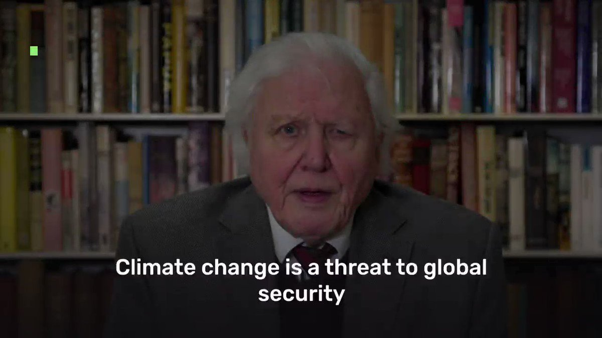 """""""Climate change is a threat to global security that can only be dealt with by unparalleled levels of global co-operation.""""  Sir. David Attenborough tells Security Council that we can create a stable & healthy world where we thrive in balance with nature."""
