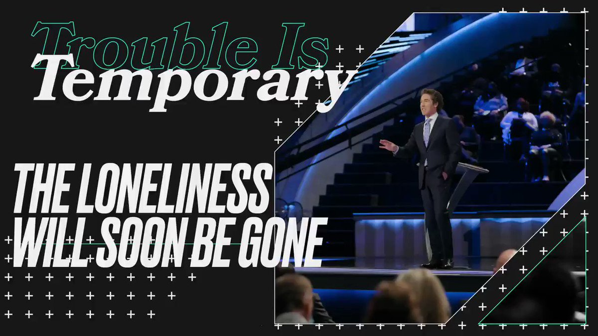 """Don't get discouraged by difficulties. The promise we have is not that trouble won't come, but that the trouble is not going to last.  Listen now to this new message from Joel, """"Trouble is Temporary"""":"""
