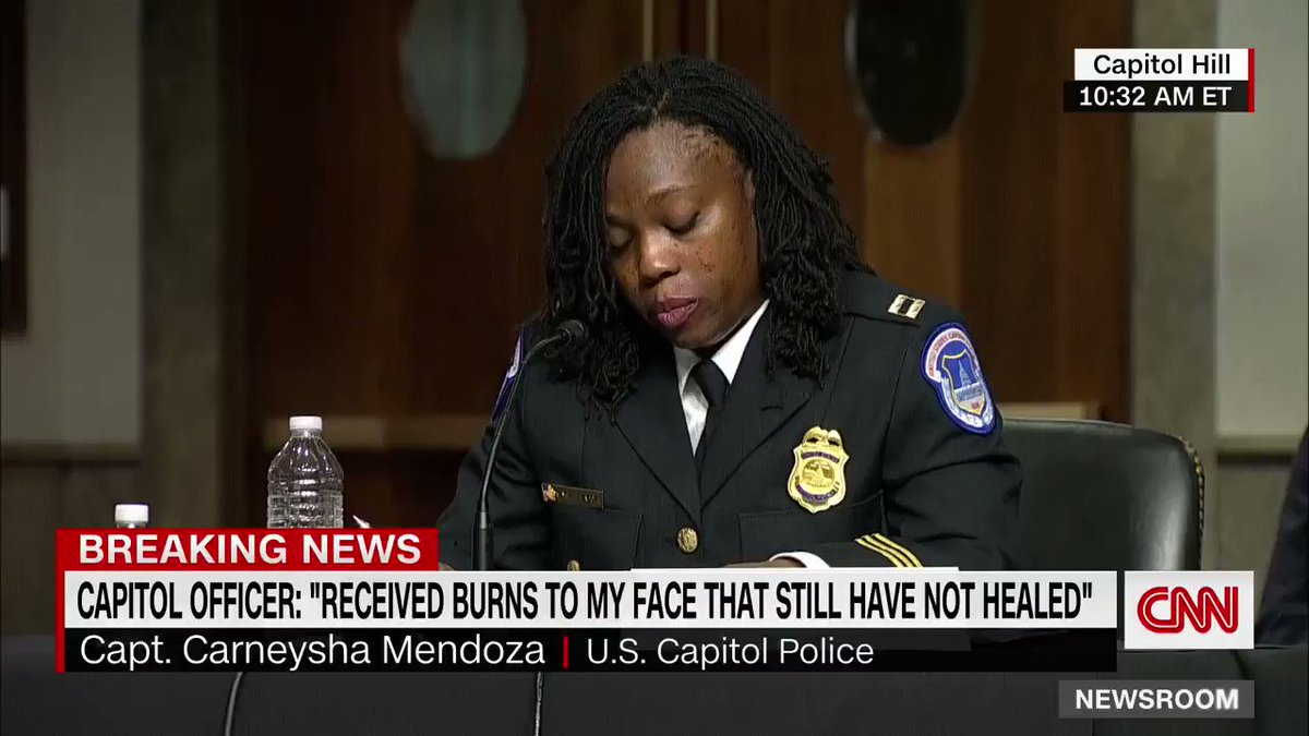 "On the deadly Trump-inspired mob that stormed the United States Capitol:  ""As an American and an Army veteran, it is sad to see us attacked by our fellow citizens."" -Captain Carneysha Mendoza"