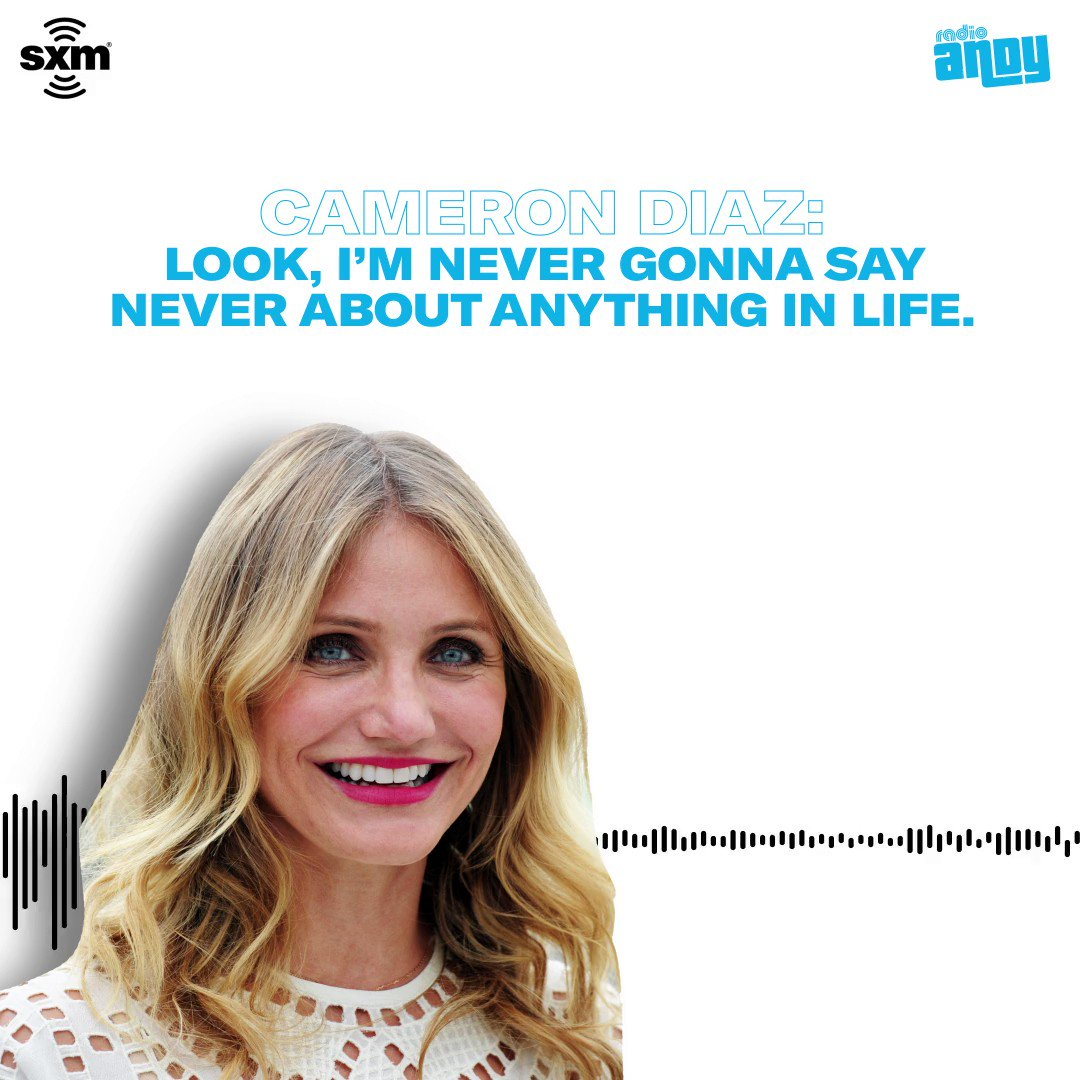 Will we see Cameron Diaz return to acting any time soon? Listen to the rest of her interview with @Brucebozzi on @RadioAndy: