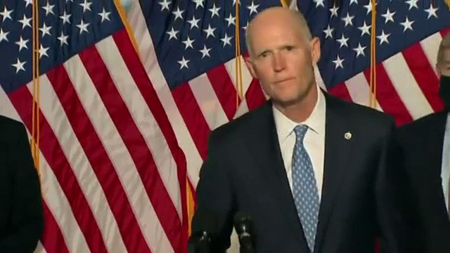 """Sen. Rick Scott: """"In four weeks, the Biden administration has been known for two things open borders and closed schools."""""""