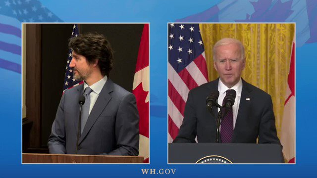 "BIDEN-TRUDEAU: Earlier tonight, President Biden touted his shared vision with Canadian PM Justin Trudeau for an ""inclusive recovery"" to help support ""women and minority-owned businesses."""