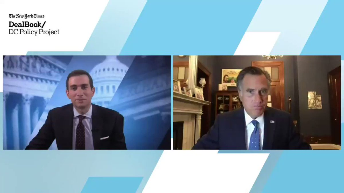 """On Donald Trump, Senator Mitt Romney at the DealBook DC Policy Project said: """"I don't know if he'll run in 2024 or not, but if he does I'm pretty sure he will win the nomination."""" #DealBookDC https://t.co/Q6zOBOXHks https://t.co/TK6fE9KLx2"""
