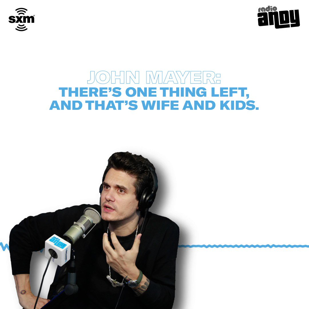 .@JohnMayer tells @Andy when he wants to settle down and start a family. Hear more on @RadioAndySXM: