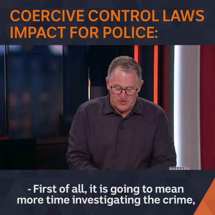 #ICYMI: It is going to be labour intensive. Even if it saves one life, it is worth it. Former police officer Vincent Hurley explains how introducing coercive control laws would alter police process on the ground - and why he believes theyre essential. #TheDrum