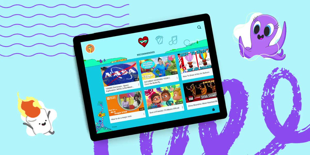 We still recommend YouTube Kids -- our separate app made for kids -- for parents who want a diverse but much smaller selection of content than YouTube. The app is now available in over 80 countries and is used by over 35 million viewers every week. https://t.co/qZYf1mts2h https://t.co/Sx8FmXhq1j