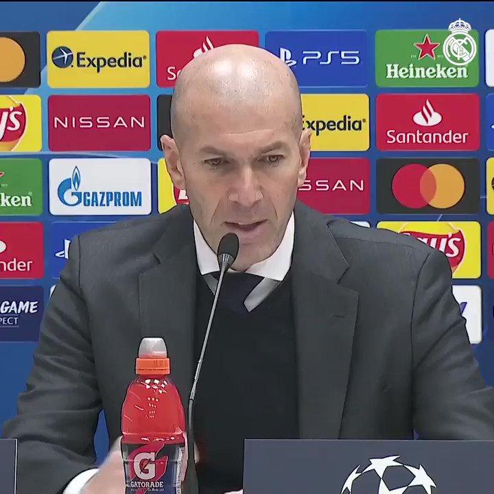 """👔🎙️ Zidane: """"Marcar fuera es importante para nosotros. Es un buen resultado."""" #UCL"""