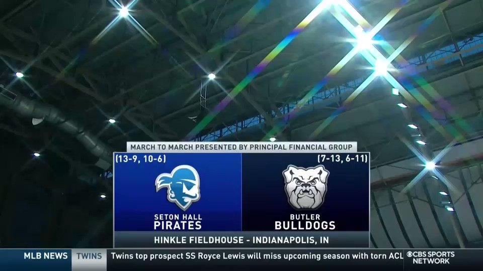 Nothing like a midweek @BIGEASTMBB tilt! @SetonHallMBB. @ButlerMBB. NOW on CBS Sports Network.