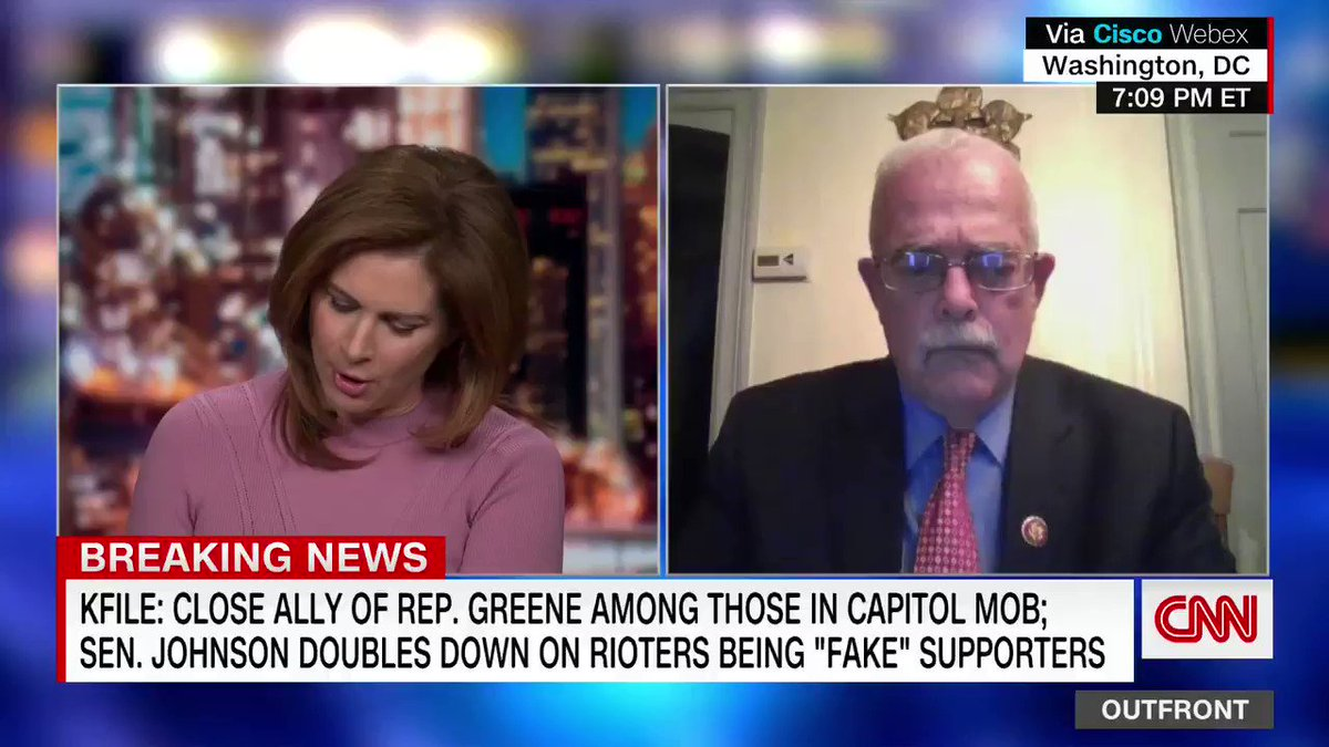 """""""This is more gaslighting by Republicans and it's very disturbing,"""" says Rep. Gerry Connolly about some Republicans doubling down on pushing debunked Capitol riot claims. """"Don't believe what you see and what you know. Believe what I tell you."""""""