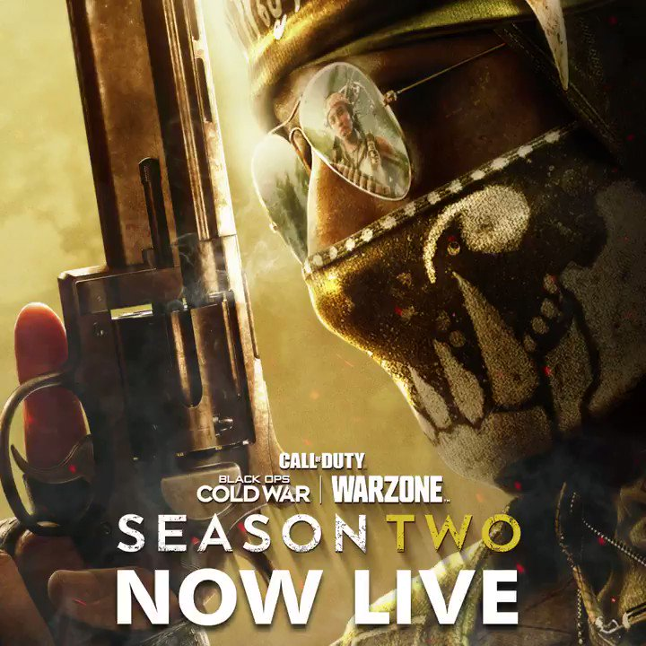 The beginning of the end is here.  Season Two is rolling out in #BlackOpsColdWar and #Warzone and available on all platforms.