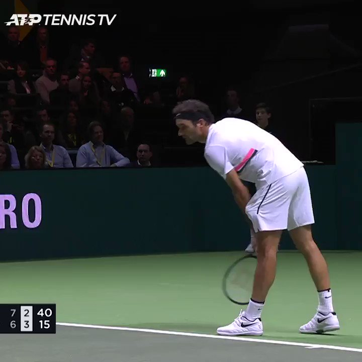 Tough to do this against Roger 😅  We're back in Rotterdam next week for the @abnamrowtt 🙌 https://t.co/TUmo5cmTwF