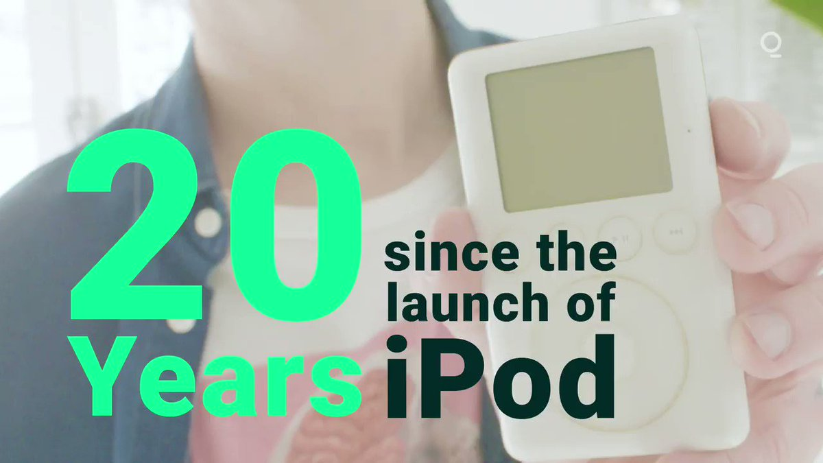 Amazing that it has been 20 years since the iPod was released by @Apple. Great video explaining how the music industry has evolved with the advancement of technology and innovation like the iPod, iTunes, and @Spotify. #technology #innovation #FridayThoughts #iPod