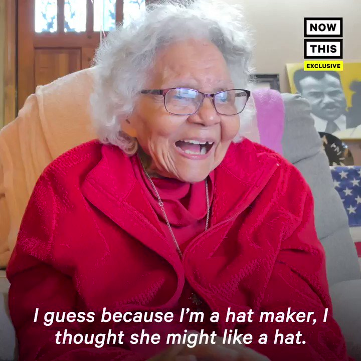 'I picked out this special one, and I hope it's the right one' — This 101-year-old hat maker made a hat for Rep. @CoriBush