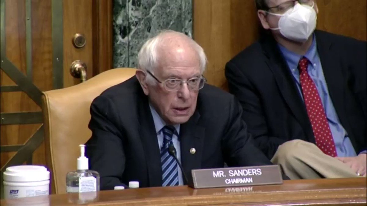 """In 2019, @McDonald' made over 6 billion in profits and paid its CEO over 18 million in compensation, while the average worker at McDonald's makes as little as $9 an hour. Unfortunately, their CEO of McDonald's also declined to testify before us today."" @SenSanders #FightFor15"